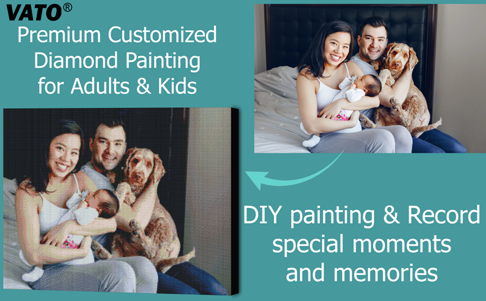Premium Customized  Diamond Painting for Adults amp; Kids,DIY painting amp; Record special moments