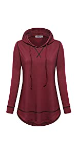 hooded workout tops