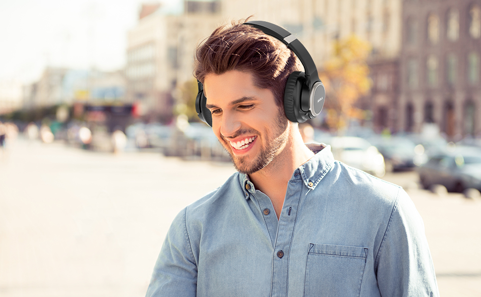 Bluetooth Headphones  Active Noise Cancelling Headphones, AIKELA Wireless Bluetooth Over Ear Headset with Deep Bass Hi-Fi Sound Soft Earbuds 30H Playtime Fast Charging ANC Headphone for Online Class Travel Home Office d5857850 c133 4ceb 9d8e ef5a1112bd42