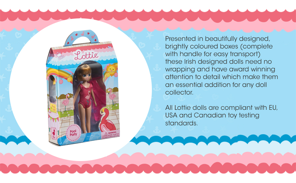 Lottie Dolls Pool Party Doll Perfect Toy for Girls and Boys