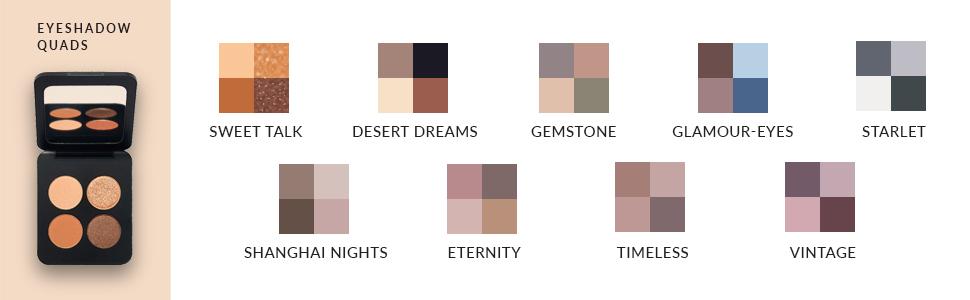 palette pigmented neutral eye color loose compact minerals cruelty trio pigment vegan creme smolder