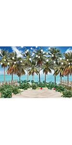 Hawaii Beach Backdrop