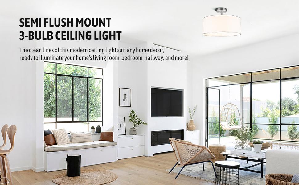 CO-Z semi flush mount ceiling light