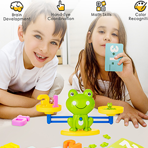 frog balance scale toy