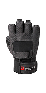 Gray workout gloves