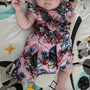 Babeleven Toddler Baby Girls Dress Clothes Floral Tutu Ruffled Sleeve Dresses Casual Playwear Dress