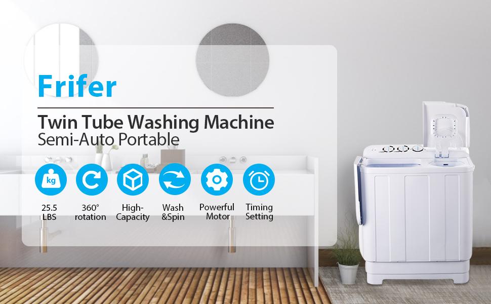 Washing Machine, Twin Tub- 16.7lbs