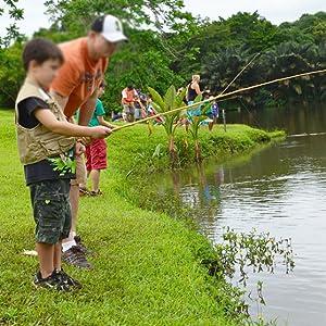 bamboo fishing pole children starter kit