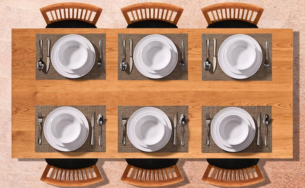 melamine dinnerware sets for 6