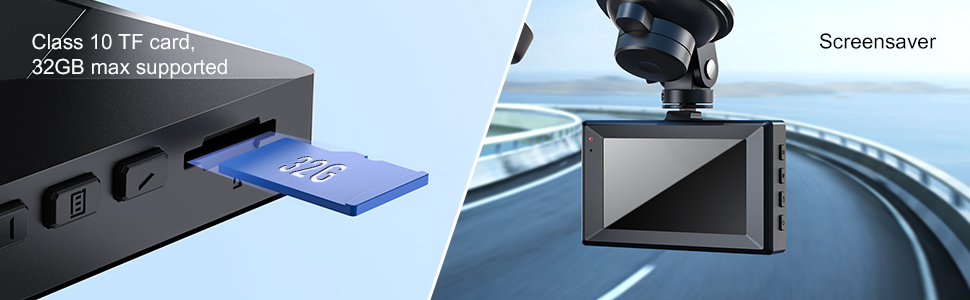 car camera dash cam front and rear