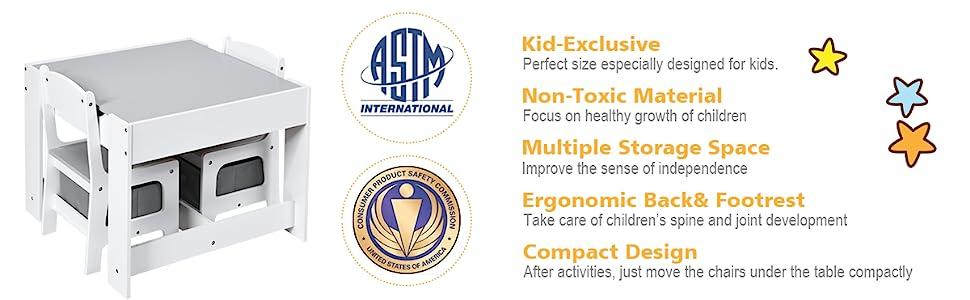 premium children table set with certification