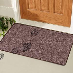 Bricoveo Welcome Doormat Front Entry Mud Indoor Door Mat 18x28 Inch Ultra Absorbent Door Mat Thin Doormat With Non Slip Pvc Backing Easy Clean Ideal For