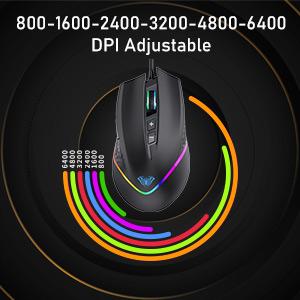 6 Modes DPI Adjustable
