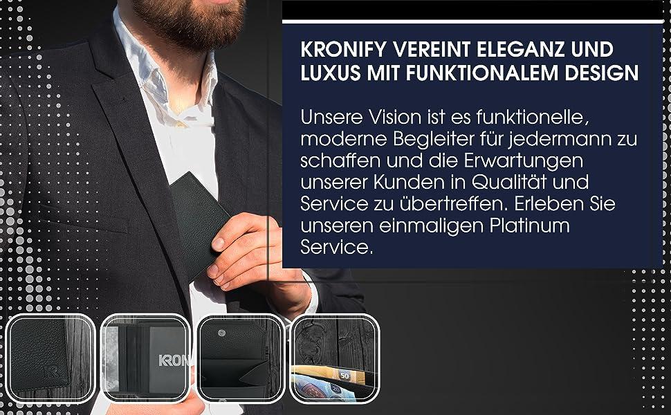 Geldbörse Herren RFID schwarz Design