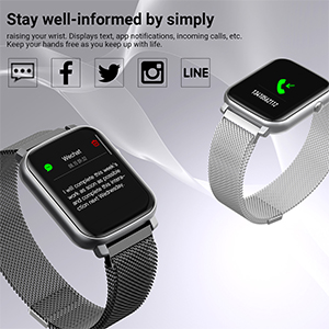 smart watch  Anmino Smart Watch with Heart Rate Monitor BP Fitness Tracker IP68 Waterproof Activity Tracker Full Touch Screen Smartwatch Sleep Monitor Calorie Step Counter SMS Call Notification(Black Steel) d5a6edc4 498a 4337 b8b6 241799958061
