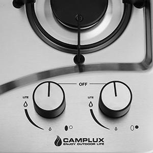 built-in rv propane cooktop
