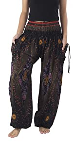 Black harem hippie pants