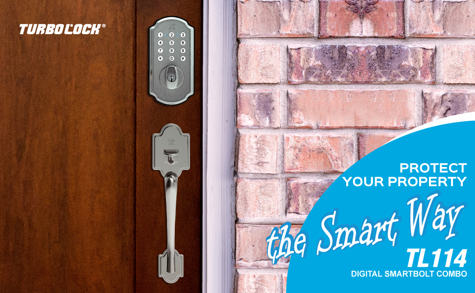 TURBOLOCK Electronic Deadbolt & Entry Handle Combo — Security Meets Elegance