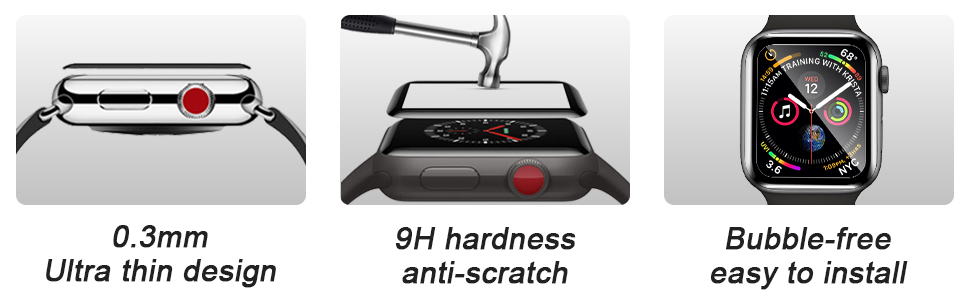 0.3mm Ultra thin design 9H hardness anti-scratch Bubble-free easy to install