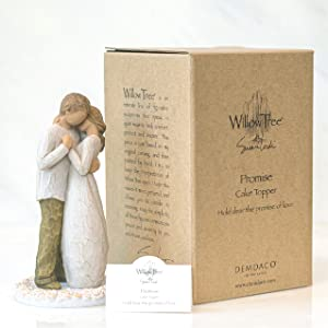 Willow Tree Promise cake topper with packaging and enclosure card.