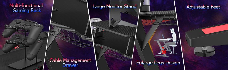 gaming desk bottom