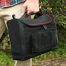 USA Gear S7 Pro Portable Photo Printer Carrying Bag and Messenger Travel Case - Fits Canon SELPHY