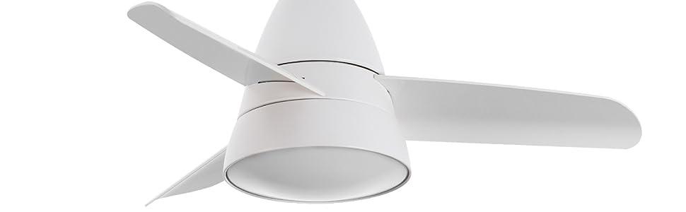 TECHBREY Ventilador de Techo Industrial Blanco LED CCT Seleccionable 55W Seleccionable (Cálido-Neutro-Frío): Amazon.es: Iluminación