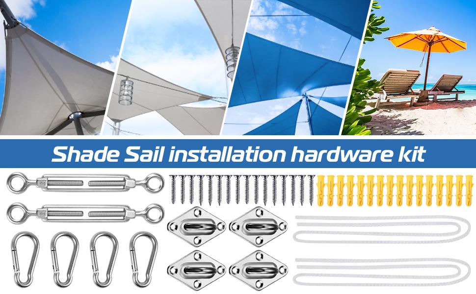 Weitars Sun Shade Sail Hardware Kit