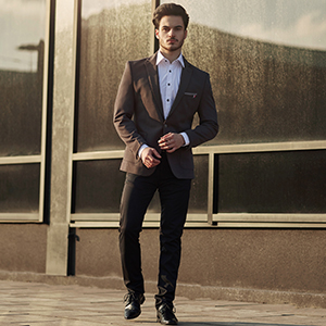 Sakko Anzug Jacke Blazer Sweatjacke Slim Fit Motiv Casual Herren BOLF Classic