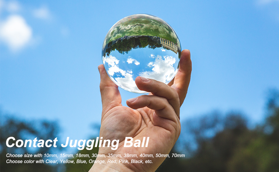 40mm 2 Pcs uxcell Clear Acrylic Contact Juggling Ball