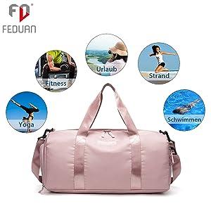 weekender damen reisetasche klein damen großes hauptfach platz für alles handtasche tragetasche