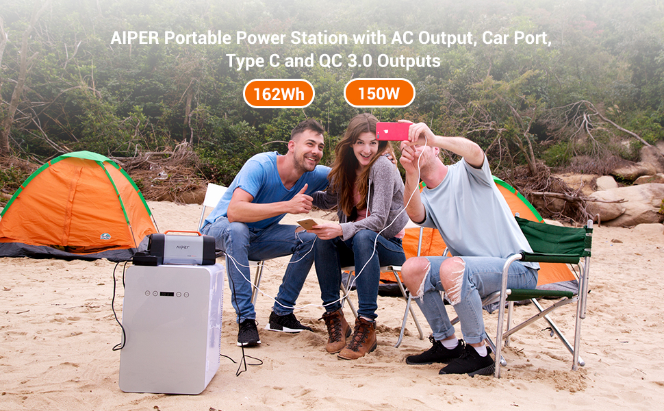 Aiper portable power station 162Wh