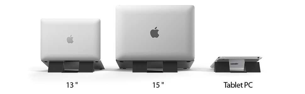 Ringke Folding Stand 2, Portable and Foldable Invisible Laptop Stand for Desktop MacBook Notebook