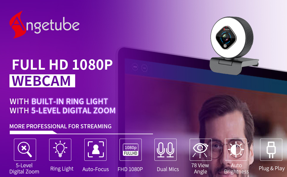 967 1080 webcam light camera for ring computer with laptop web microphone zoom 1080p cam usb