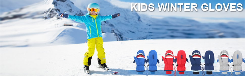 LORYLOLY Gants de Ski pour Enfants Mitaines Antid/érapants Coupe-Vent Imperm/éabls pour Patinage Snowboard /Équitation Motoneige Gants /Épais Chauds en Hiver pour Gar/çons Fille de 3 /à 15 Ans