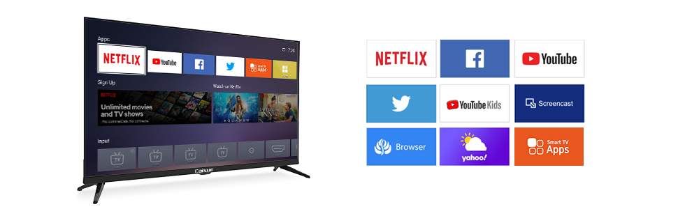 television  Caixun 32 Inch TV 720p Smart LED TV-C32 High Resolution Television Built-in HDMI, USB – Support Screen Cast Mirroring (2020 Model) d5e52376 5687 4962 be1c 65dab4768edb