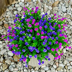 artificial flowers outdoor plants greenery fake faux no fade