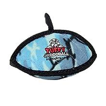 tuffy junior oddball ball dog toy blue plush soft interactive play