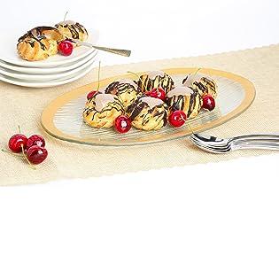 glass serving tray dessert plates serveware dinnerware set