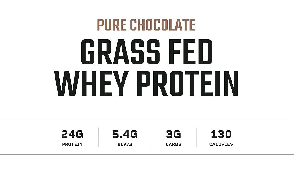 Strawberry grass fed whey protein