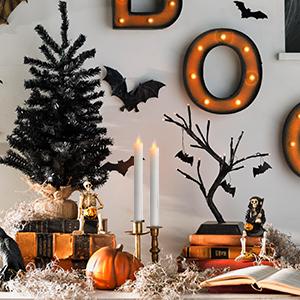 Halloween Flameless Taper Candles