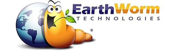Earthworm Technologies Organic Plant Food Fertilizer Spike Capsules Logo