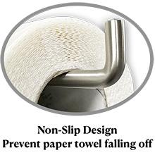 Diseño antideslizante (evita que la toalla de papel se caiga)