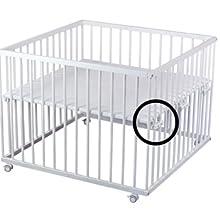 Laufgitter Baby Laufstall 75 x100 grau stufenlose Bodenhöhe Schlupfsprossen NEU
