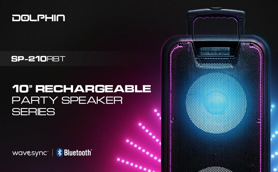 PartyBox, Party Speaker, Tailgate Speaker, Rechargeable Speaker, Speaker with Lights, Portable