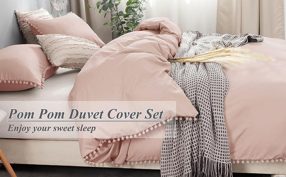 Pom Pom Duvet Cover Set