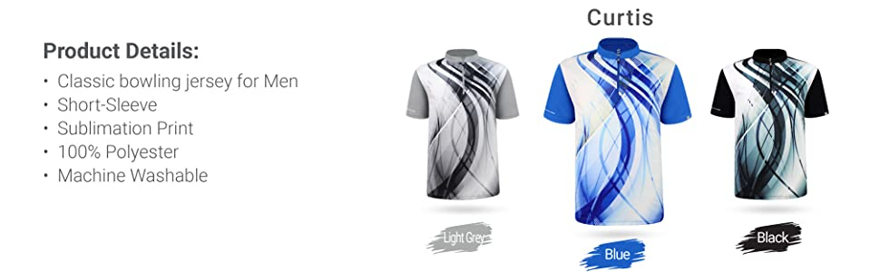 SAVALINO Men's Bowling Sublimation Printed Jersey, Material Wicks Sweat amp; Dries Fast, Size S-5XL…