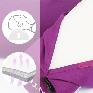 Revêtement en tissu 100% coton avec des carreaux en plastique remplis de mousse.