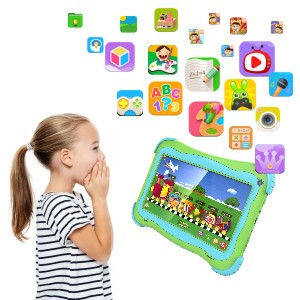 kids tablets - Kids Tablet 7 Android Kids Tablet Toddler Tablet Kids Edition Tablet With WiFi Dual Camera Childrens Tablet 1GB + 16GB Parental Control, Google Play Store (Green)
