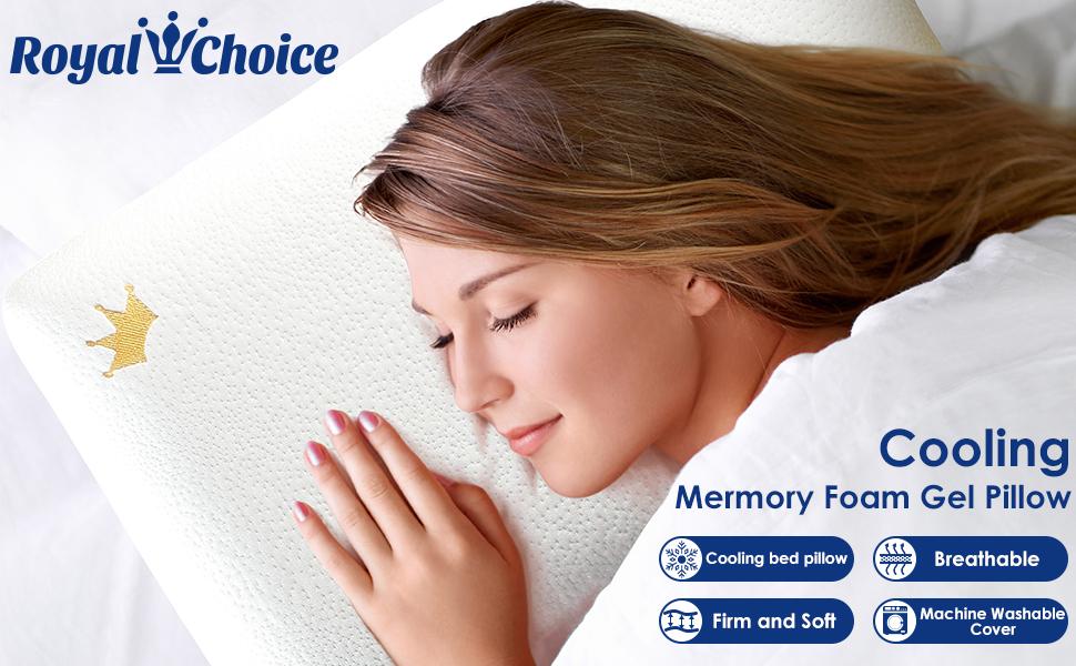 Cooling Mermory Foam Gel Pillow